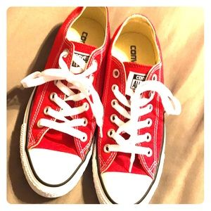 Brand new Red Converse sneakers